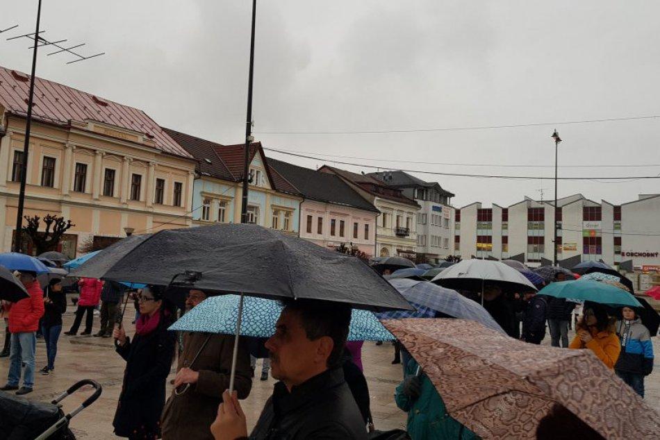 Protest 16. marec v Brezne