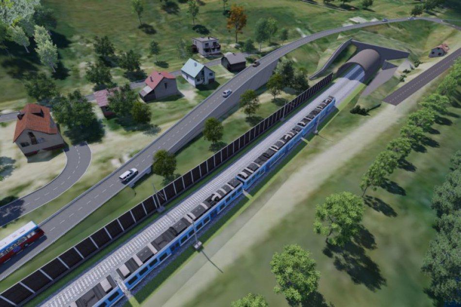 Ako má vyzerať železnica po dokončení? Pozrite si vizualizácie Milochova