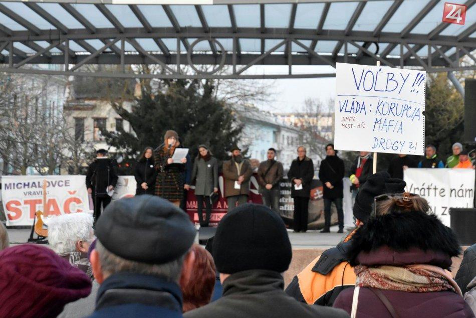 V Michalovciach bolo opäť rušno: Protestné zhromaždenie V OBRAZOCH