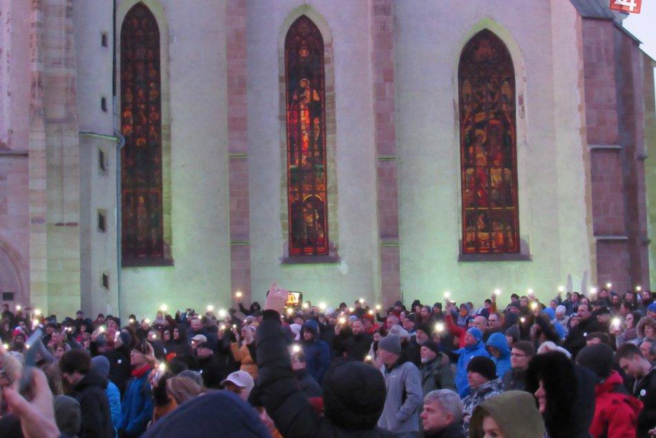 V Prešove bolo opäť rušno: Protestné zhromaždenie V OBRAZOCH