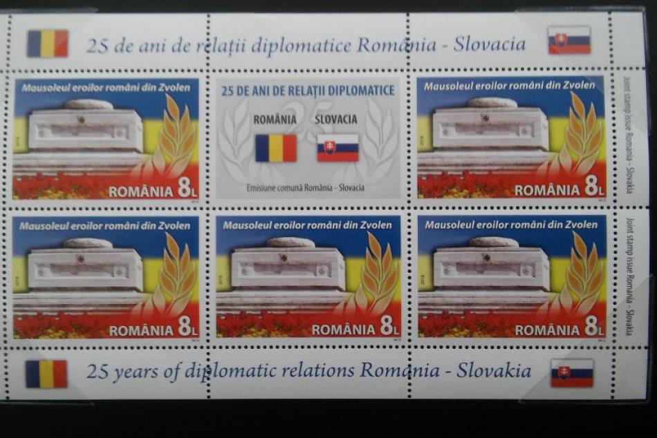 V OBRAZOCH: Zvolen je na rumunskej i slovenskej známke