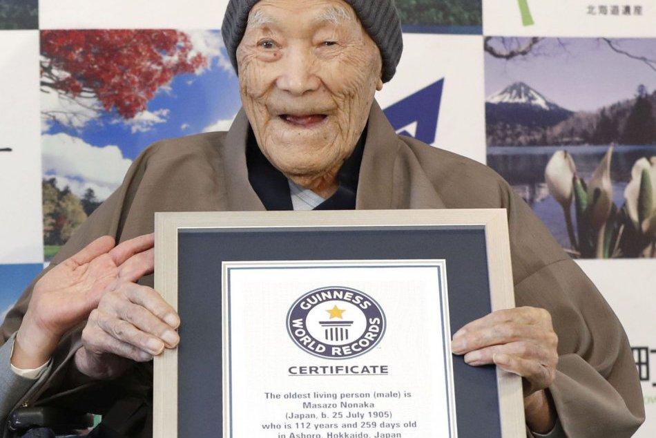 Masazó Nonaka má 112 rokov, je najstarším žijúcim mužom planéty