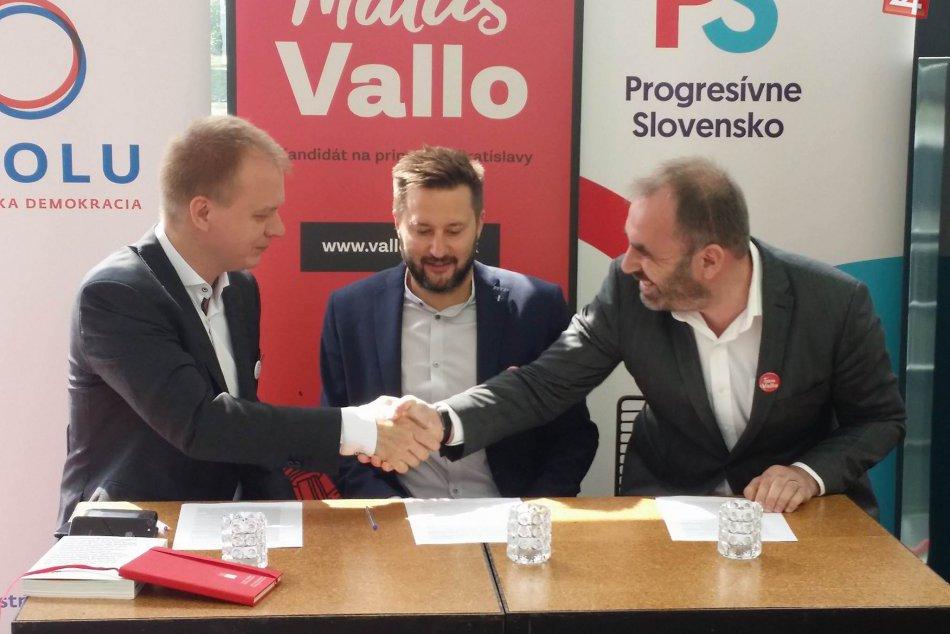 Matúš Vallo, Miroslav Beblavý, Ivan Štefunko