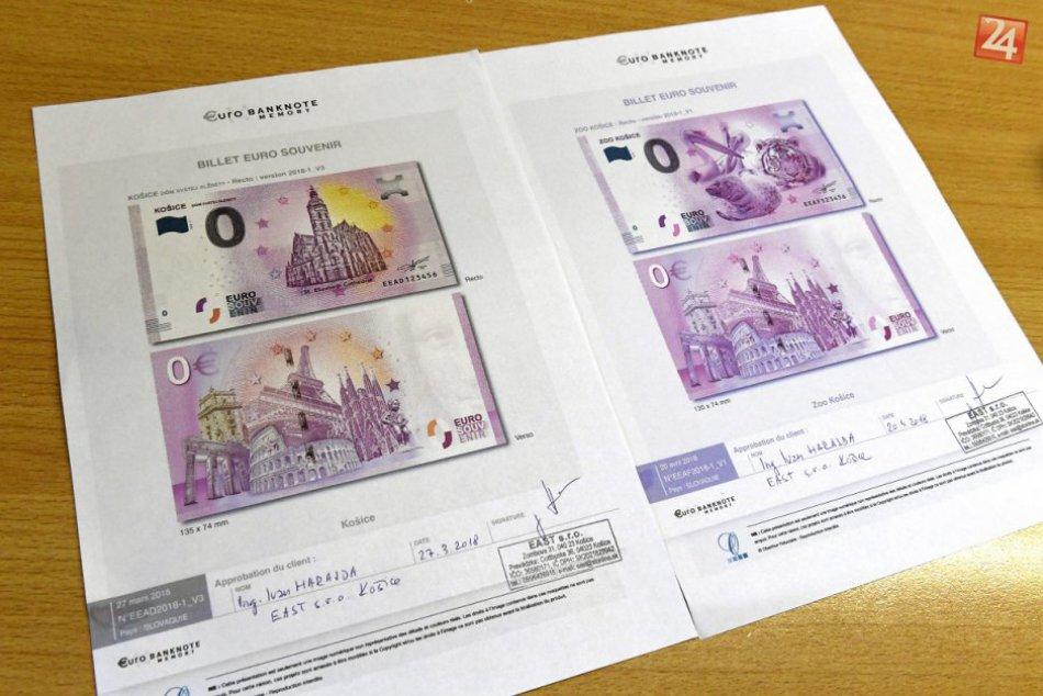 FOTO: Na suvenírových eurobankovkách bude Dóm sv. Alžbety a zvieratá zo zoo