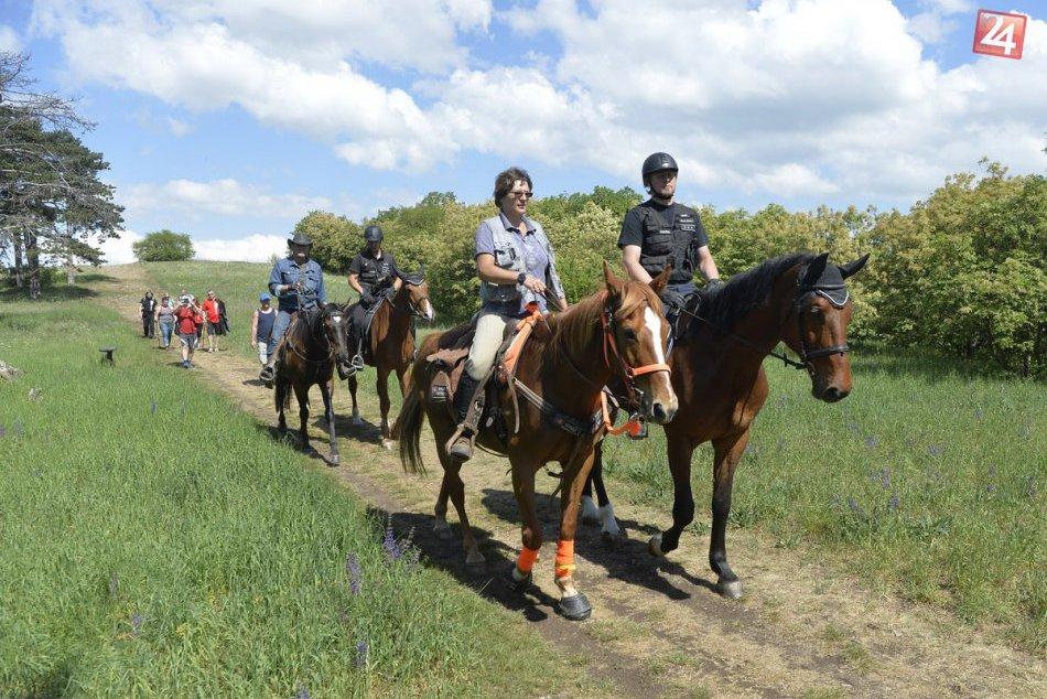 FOTO: Na poriadok na Zobore dohliadajú zmiešané policajné hliadky na koňoch