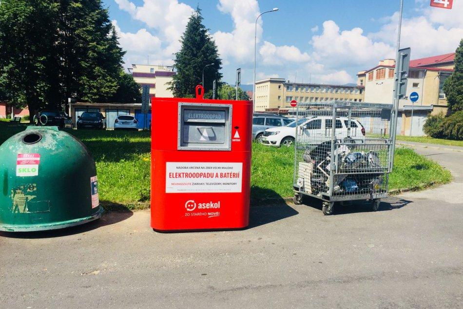 V OBRAZOCH: Kontajnery na drobný elektroodpad od júna i v Bystrici