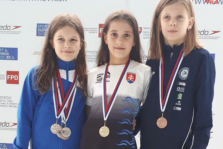 V OBRAZOCH: Plavkyňa Malíková z UMB získala 6 medailí v Slovenskom pohári žiakov