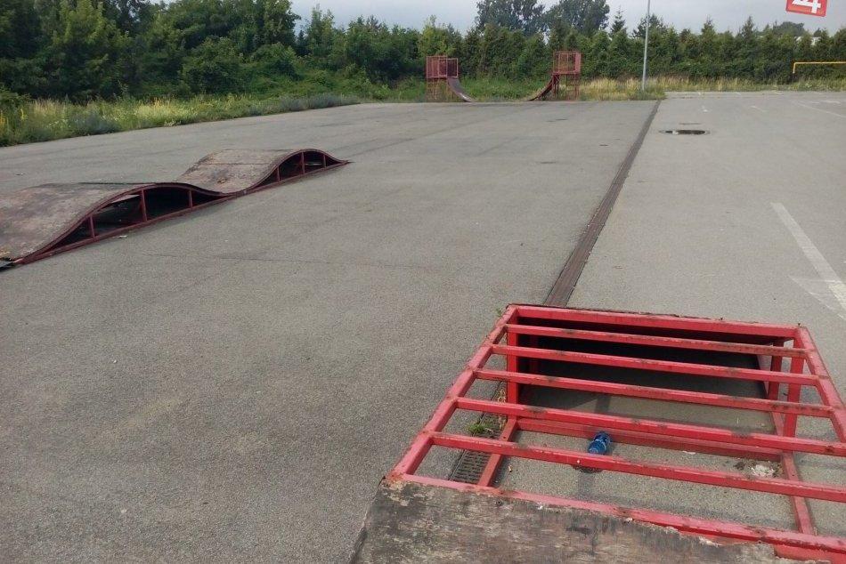 Aktuálny pohľad na skatepark v Humennom... Už onedlho sa začne jeho obnova