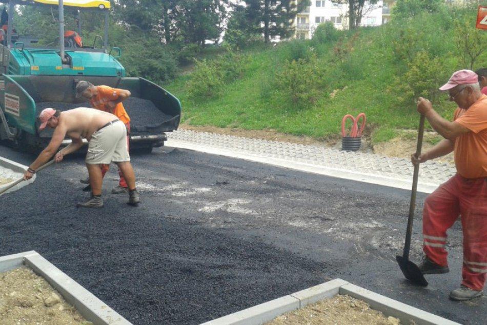 Bernolákova ulica na Rozkvete sa mení: Práce pomaly finišujú