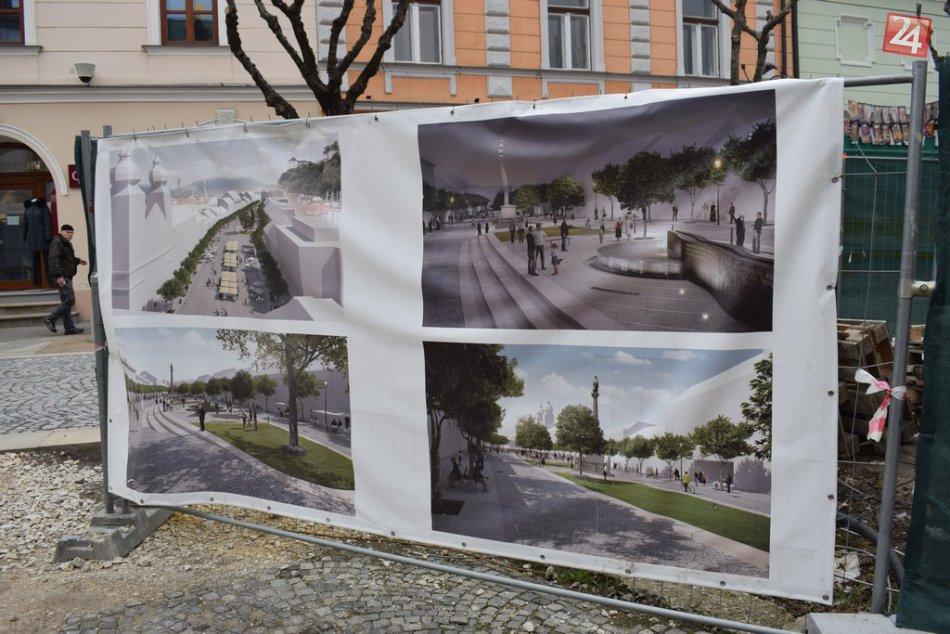 V obrazoch: Rekonštrukcia morového stĺpa v Trenčíne