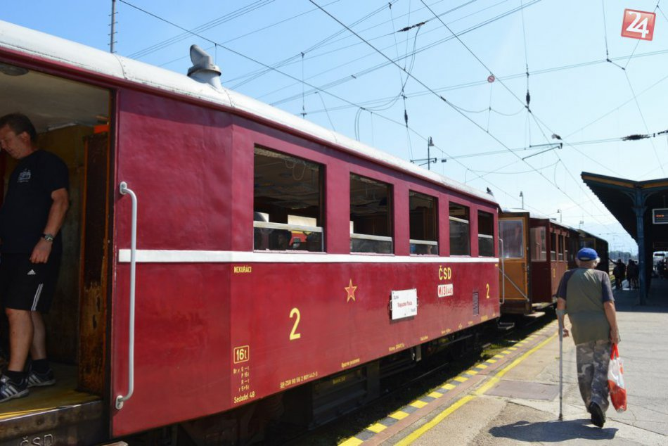 Historický vlak Hurvínek a autobus Karosa ŠD 11: Rajecká Anča 2018