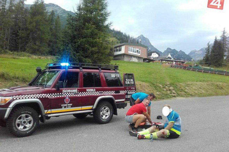 Hrebienok - zranený cyklista 08/2018