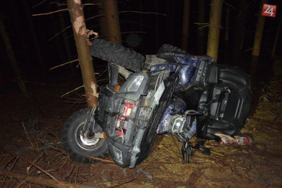 Obrazom: Jazda na štvorkolke v lesoch nad Čučmou skončila tragicky