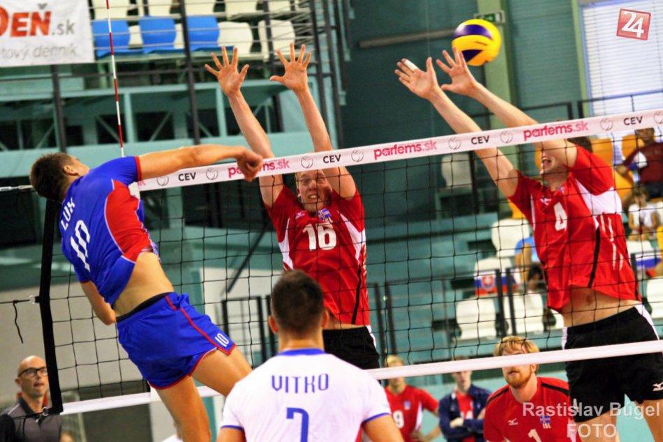 Volejbalisti v Nitre na úvod kvalifikácie ME porazili Island
