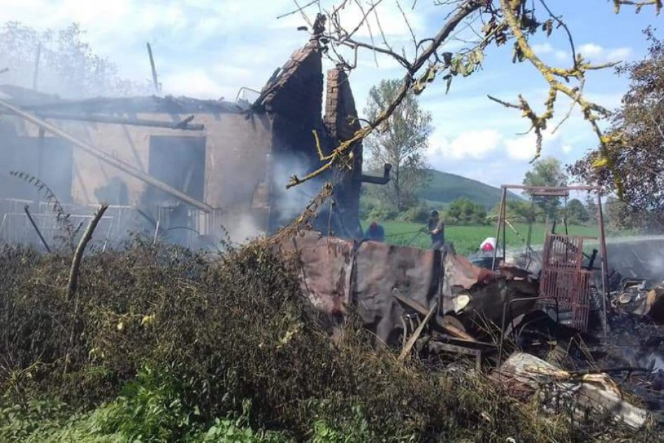 Obrazom: Požiar domu v Kunovej Teplici