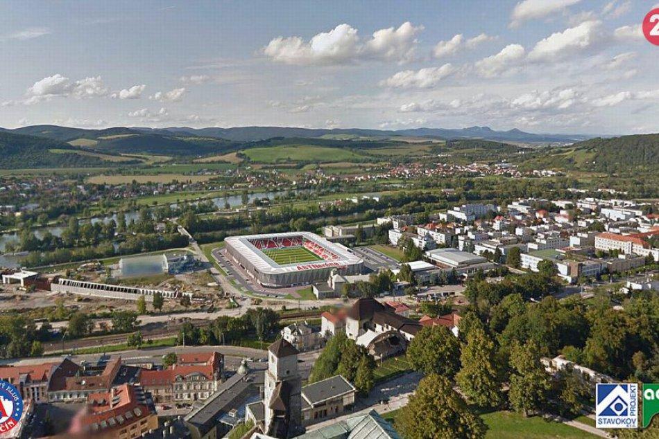 Vizualizácia nového futbalového štadióna v Trenčíne