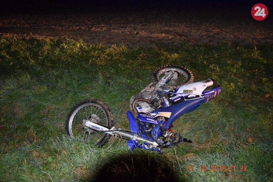 Nehoda motocyklistu v Dobroči