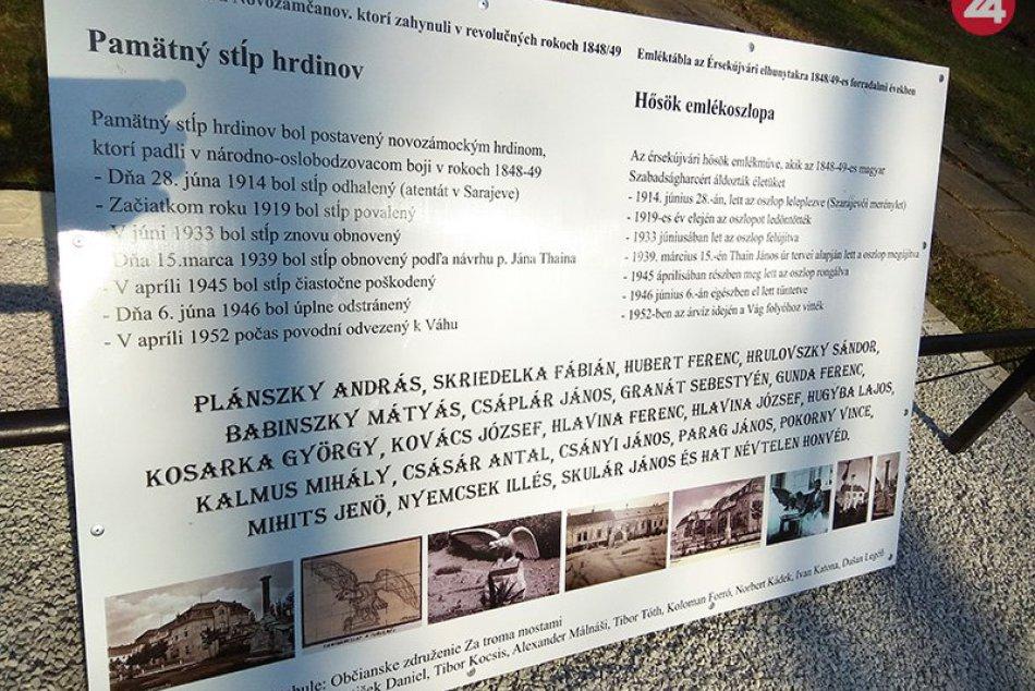 Odhalenie pamätníka a pamätnej tabule v Nových Zámkoch