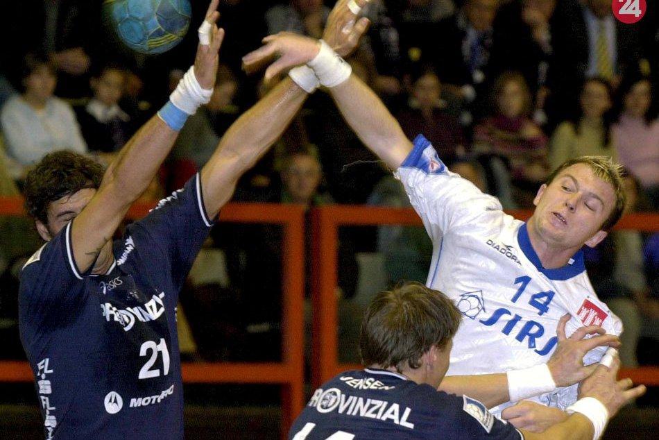 Zápas Považskej proti Flensburgu, ktorý sa stal finalistom LM a majstrom Nemecka