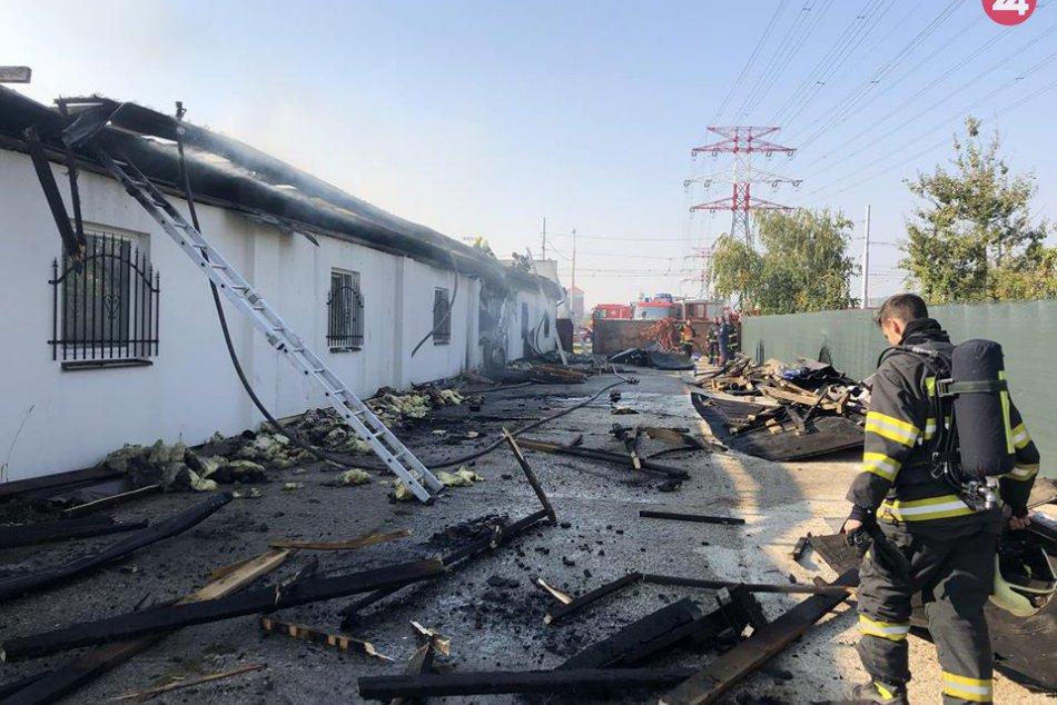 Požiar budovy na Vajnorskej