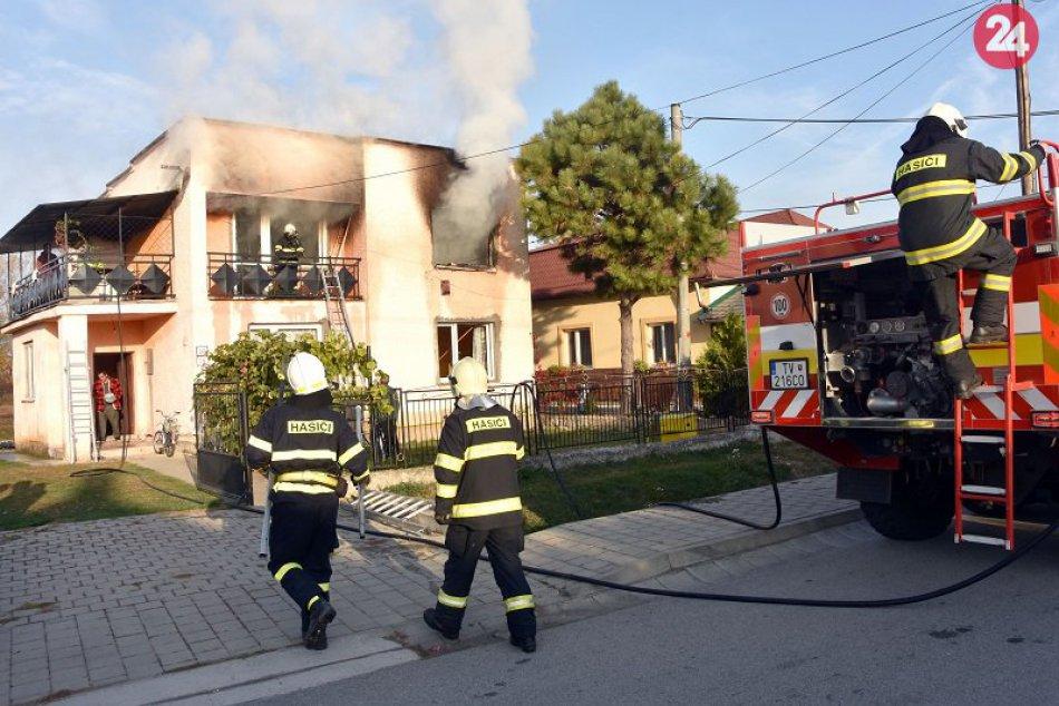 Požiar domu v Nižnom Žipove