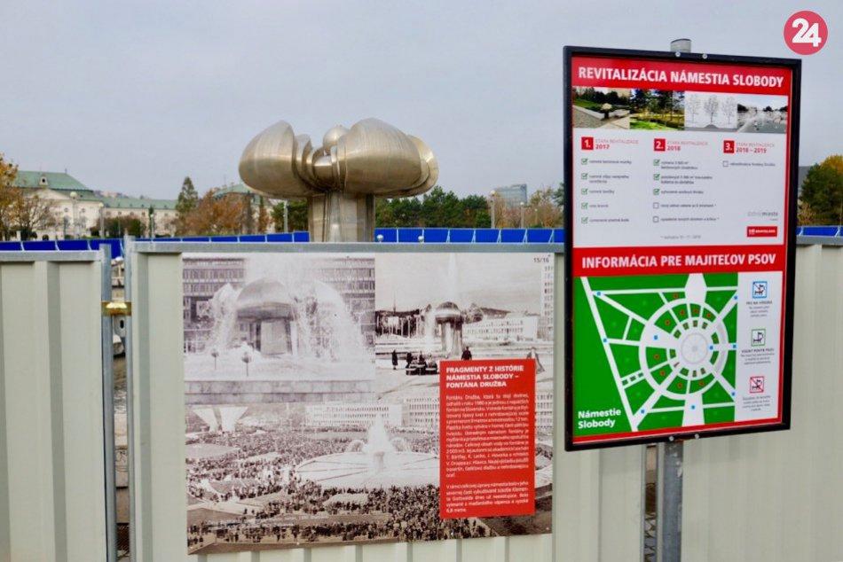 Začína sa obnova fontány Družba na Námestí slobody