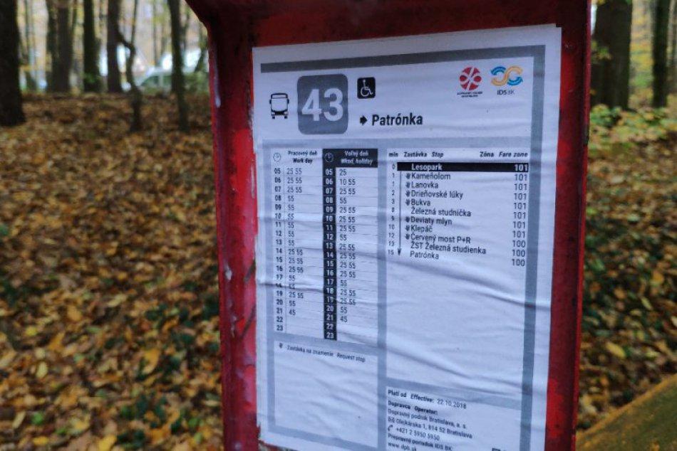 Elektrobus na linke č. 43
