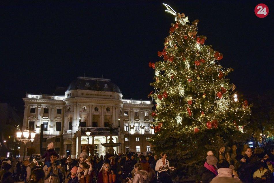 Bratislavské vianočné stromčeky 2018