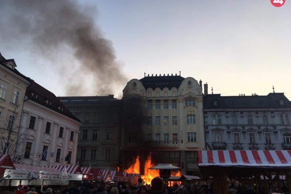 Požiar na Hlavnom námestí