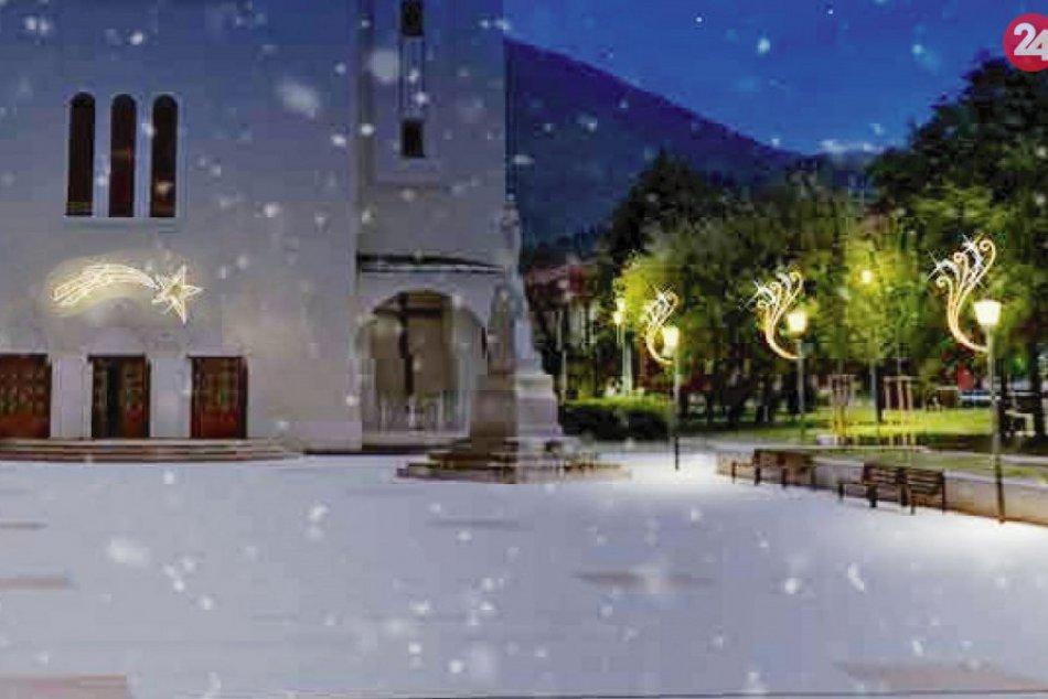 VIZUALIZÁCIE novej vianočnej výzdoby pred kostolom v Považskej Bystrici
