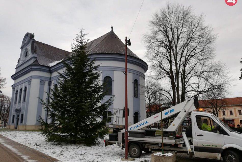 Pozrite si ho na FOTKÁCH: V centre Spišskej sa už vypína vianočný stromček