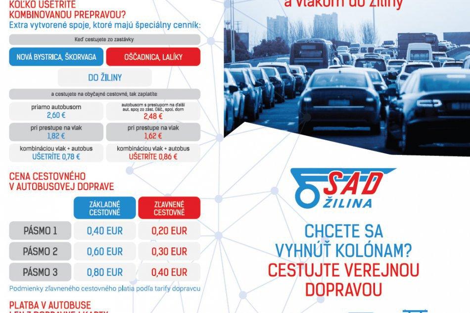 Kombinovaná doprava Kysuce - Žilina a späť bude lacnejšia