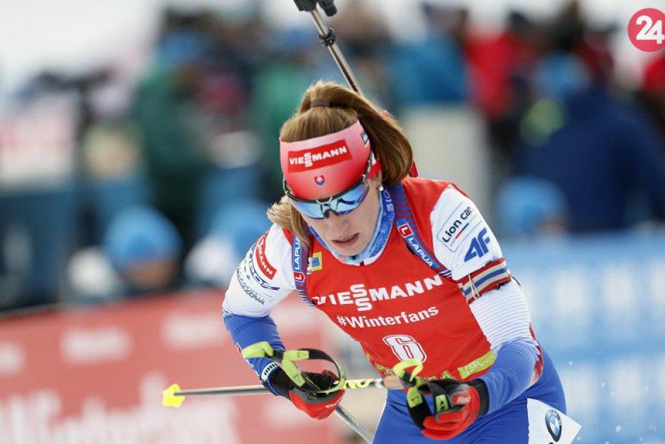 P. Fialková počas 1. kola Svetového pohára biatlonistiek v slovinskej Pokljuke