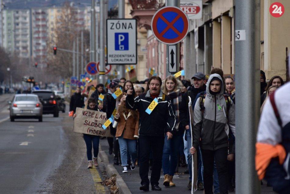 Protest študentov gymnázia Košice