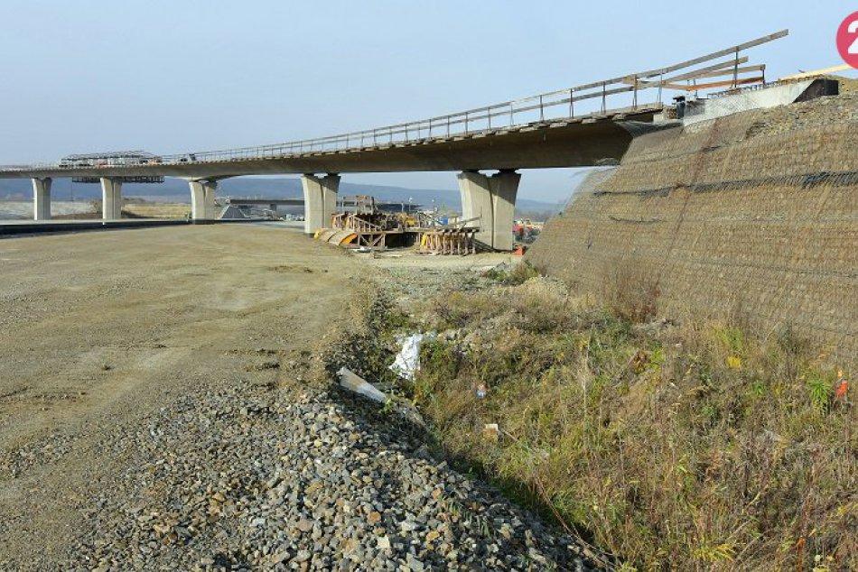 Výstavba diaľničného úseku D1 Budimír – Bidovce november 2018