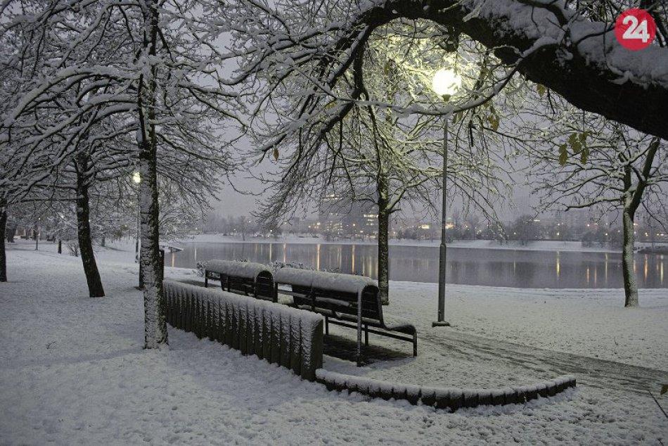 Štrkovecké jazero v zime