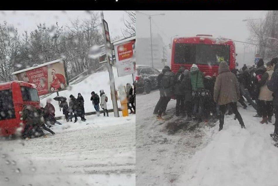 """Snehová """"kalamita"""" v Bratislave, humor"""