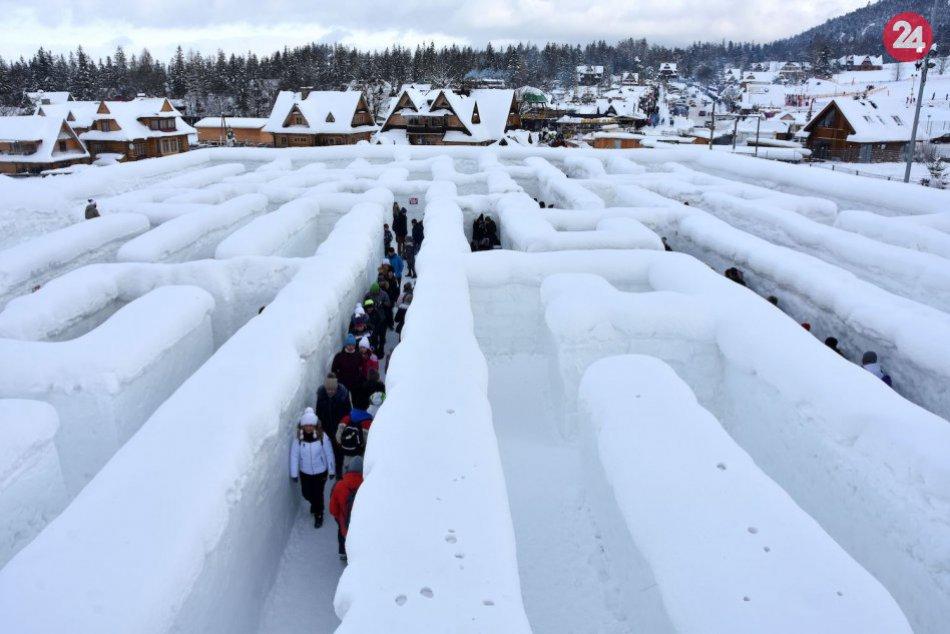 Snežný labirint v Zakopanom