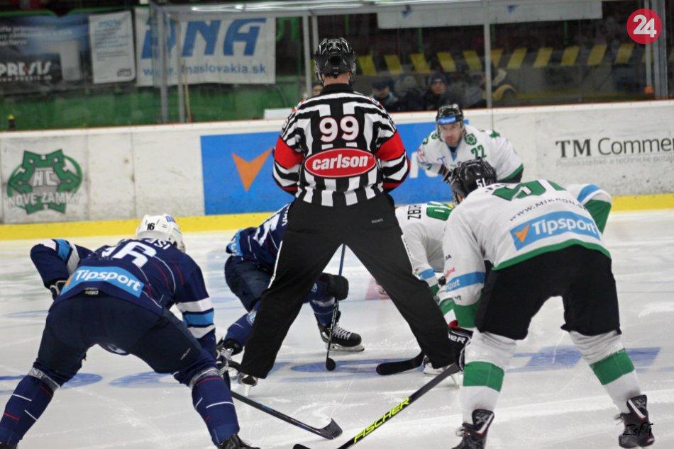 Regionálne derby Nové Zámky - Nitra prinieslo rýchly hokej