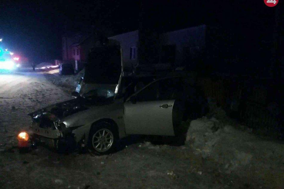 Nehoda motorového vozidla, ktoré narazilo do plynovej prípojky