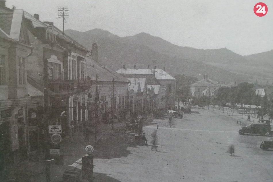 Historické foto: Benzínové čerpadlo a stanovište prepravcov na humenskom námestí