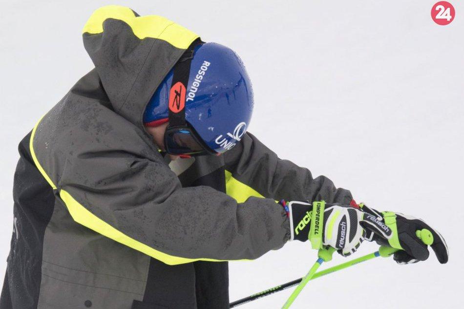 Petra Vlhová počas obrovského slalomu na majstrovstvách sveta