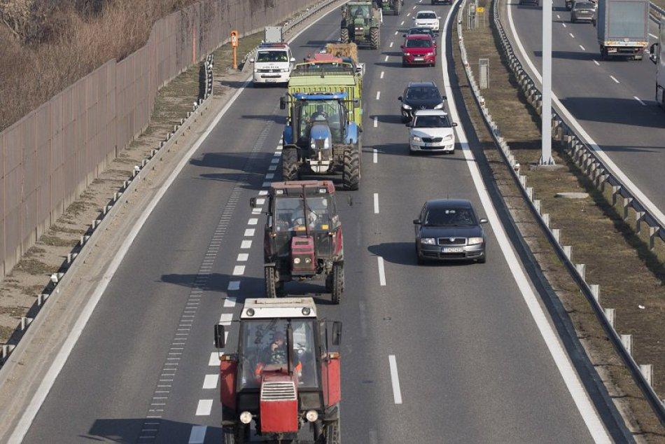 Protest farmárov v Bratislave