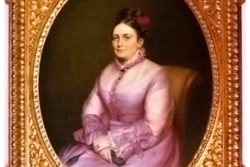 Toto je on: Obraz grófky Františky Andrássy-Hablawetz z humenského zámku