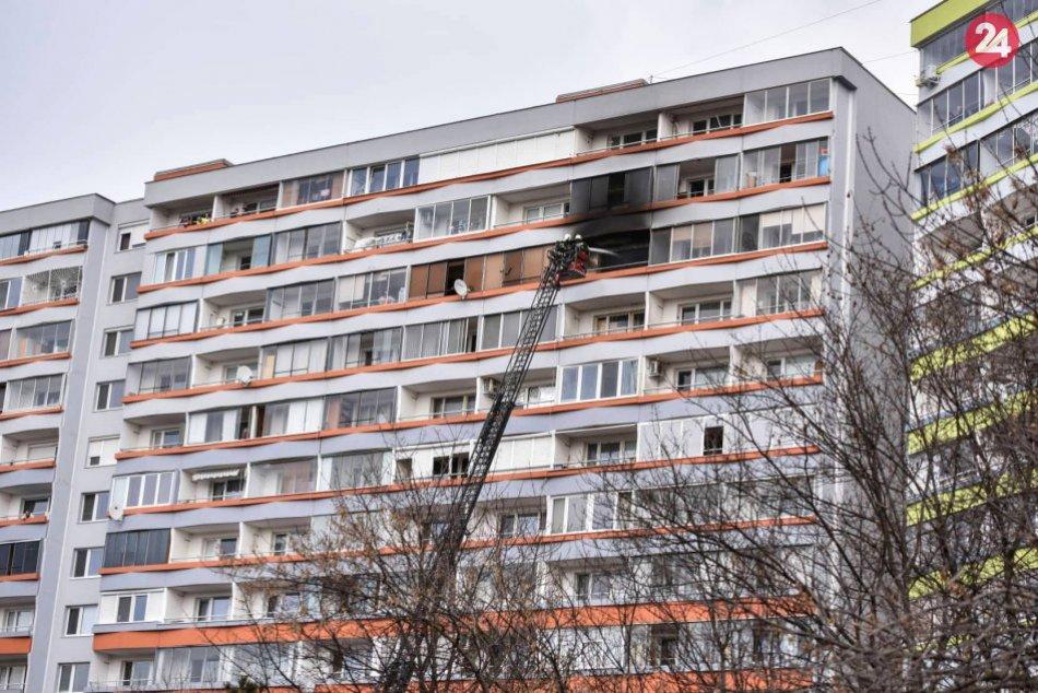 Požiar bytu v Petržalke
