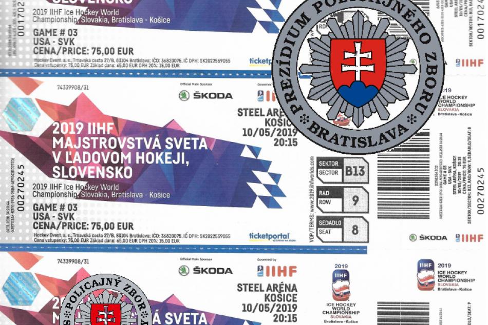 Polícia: Toto sú falošné lístky na majstrovstvá sveta v hokeji na Slovensku!
