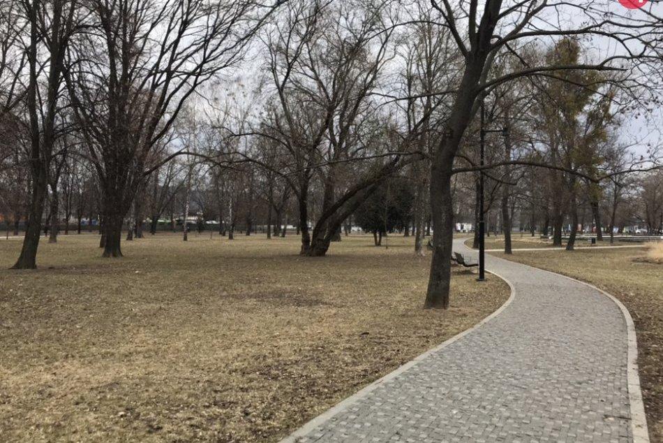 Mestský park a Mlynská ulica