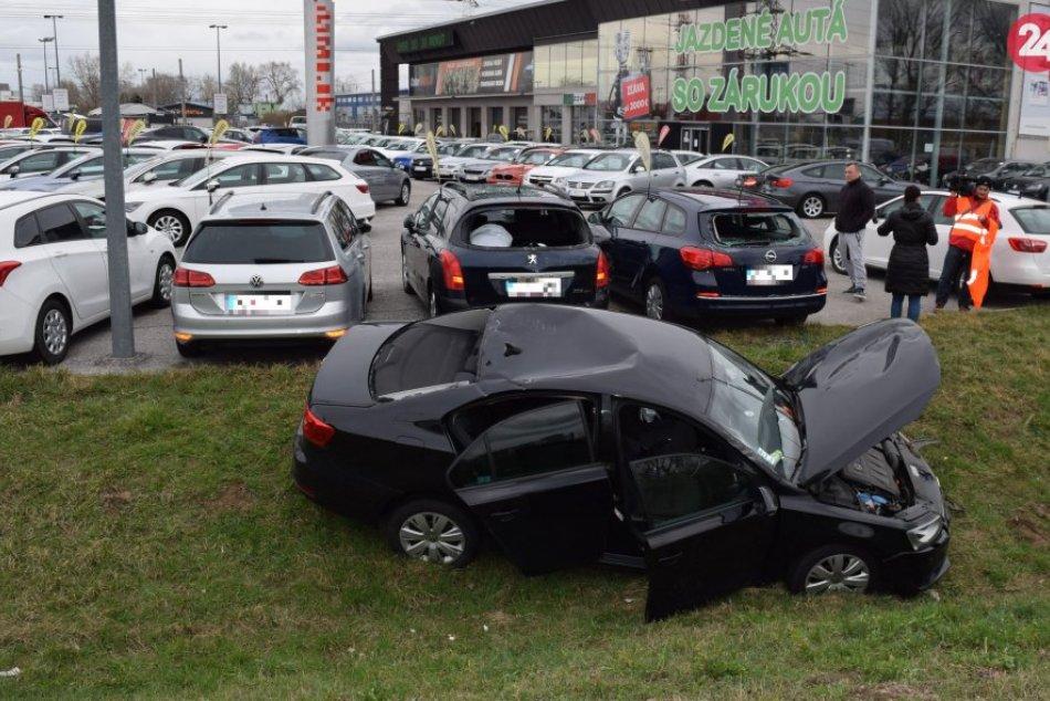 Nehoda na diaľničnom obchvate v Bratislave