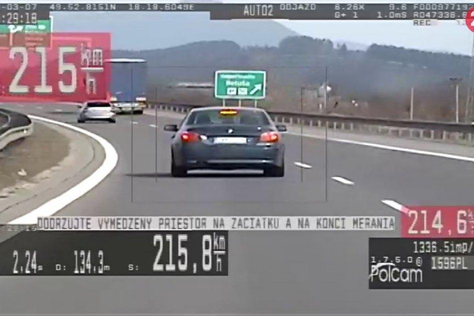Patrik (22) išiel na BMW rýchlosťou 215 km/h: Policajti ho však zastavili