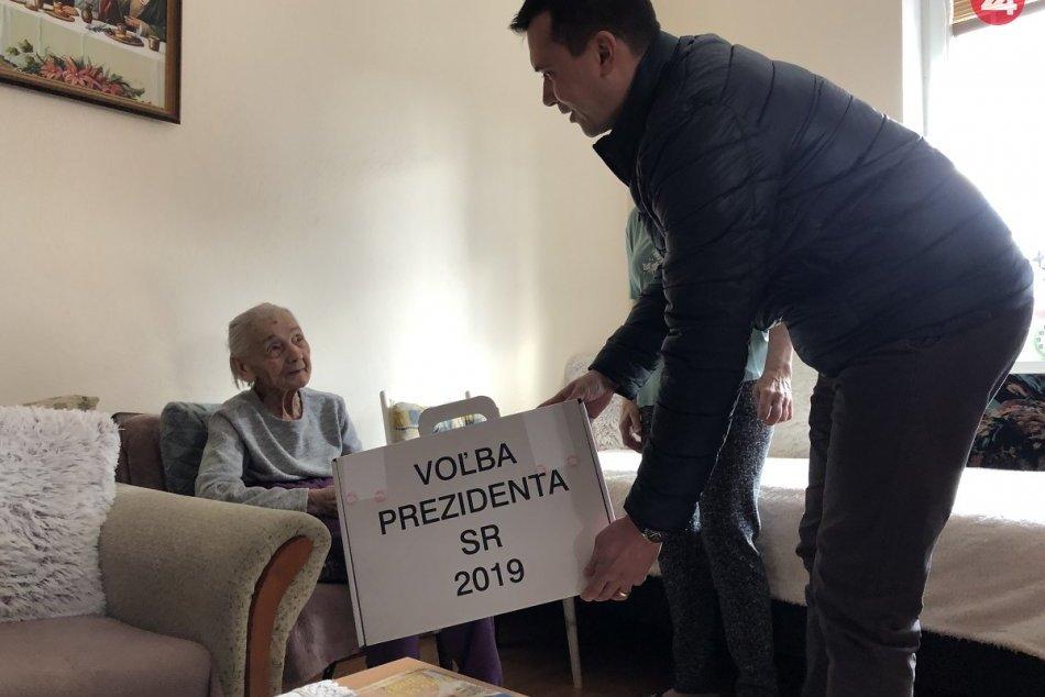 V Malom Šariši volila aj najstaršia 103-ročná obyvateľka, FOTO a VIDEO